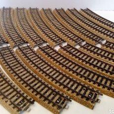 Trenes Escala: JIFFY VENDE 17 UNIDADES DE VIA M CURVA MARKLIN 5100 H0. LOTE EDE108. Lote 227682635