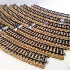 Trenes Escala: JIFFY VENDE 12 UNIDADES DE VIA M CURVA MARKLIN 5100 H0. LOTE EDE109. Lote 227684300