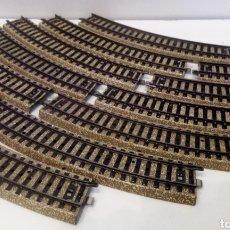 Trenes Escala: JIFFY VENDE 12 UNIDADES DE VIA M MARKLIN 5100 H0. LOTE EDE112. Lote 227693820