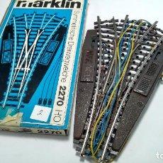 Trenes Escala: MARKLIN H0 K DESVÍO TRIPLE ELÉCTRICO. FUNCIONA, RETIRADO DE UNA MAQUETA.. Lote 229249175