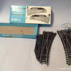 Trenes Escala: MARKLIN ESCALA H0 2161 LOTE DE DESVIOS COMO NUEVOS. Lote 230448800