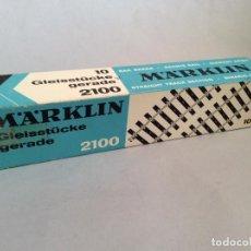 Trenes Escala: MARKLIN REF. 2100 CAJA DE 10 VIAS RECTAS ACCESORIOS MAQUETA TREN ESCALA H0. Lote 231361645