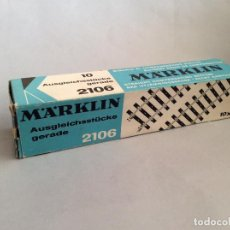 Trenes Escala: MARKLIN REF. 2106 CAJA DE 10 VIAS RECTAS ACCESORIOS MAQUETA TREN ESCALA H0. Lote 231362060