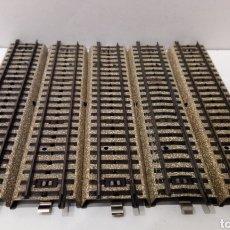 Trenes Escala: JIFFY VENDE 5 UNIDADES DE VÍA M RECTA MARKLIN 5106 Y 3601 D H0. LOTE INS05 3601D. Lote 231888050