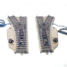 Trenes Escala: JIFFY VENDE PAREJA DE 2 DESVÍOS MARKLIN VIA M 3601 MWL Y MWR H0. LOTE CAT108. Lote 231980265