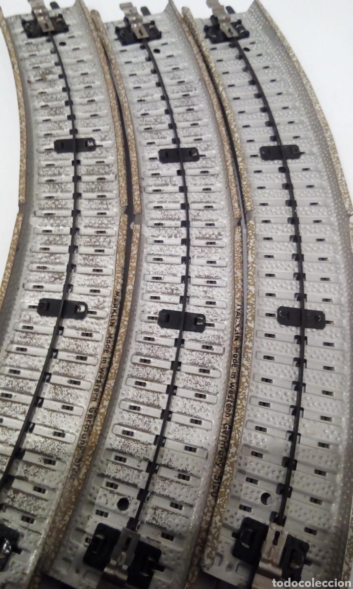 Trenes Escala: JIFFY VENDE 9 VÍAS M CURVAS MARKLIN 5120 H0. CON 8 VÍAS SE CONSTRUYE UN CÍRCULO COMPLETO. LCAT005. - Foto 9 - 232033950