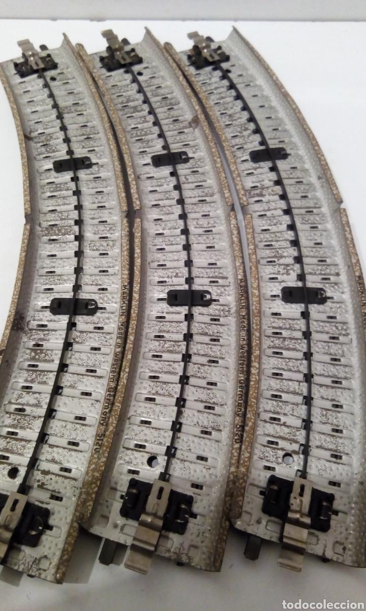 Trenes Escala: JIFFY VENDE 9 VÍAS M CURVAS MARKLIN 5120 H0. CON 8 VÍAS SE CONSTRUYE UN CÍRCULO COMPLETO. LCAT005. - Foto 11 - 232033950
