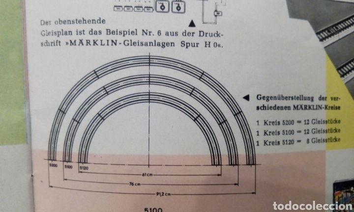 Trenes Escala: JIFFY VENDE 9 VÍAS M CURVAS MARKLIN 5120 H0. CON 8 VÍAS SE CONSTRUYE UN CÍRCULO COMPLETO. LCAT005. - Foto 14 - 232033950