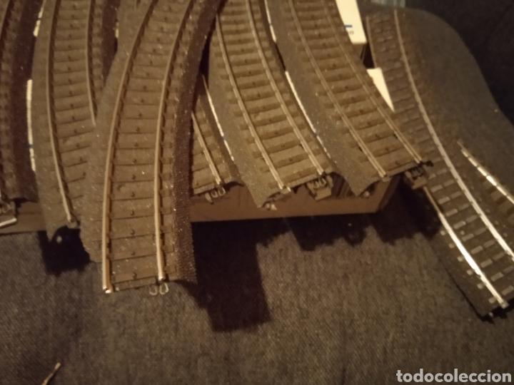 Trenes Escala: Lote de Vias C Marklin H0 (Desvíos, cruces, curvas, rectas, decoders, más...) - Foto 10 - 234936220