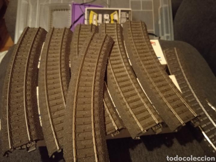 Trenes Escala: Lote de Vias C Marklin H0 (Desvíos, cruces, curvas, rectas, decoders, más...) - Foto 11 - 234936220