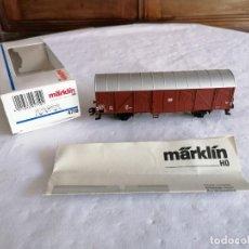 Treni in Scala: MÄRKLIN H0 4710 VAGÓN CERRADO DB NUEVO OVP. Lote 235165995
