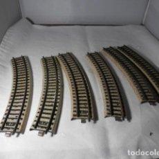 Trenes Escala: LOTE VIAS CURVAS ESCALA HO DE MARKLIN. Lote 235230395