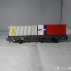 Trenes Escala: VAGÓN PORTACONTENEDOR ESCALA HO DE MARKLIN. Lote 235848570