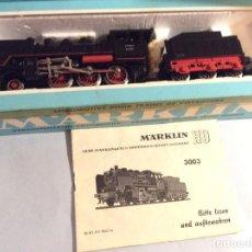 Trenes Escala: MARKLIN HO REF. 3003 LOCOMOTORA CON TENDER. Lote 236229645