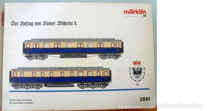 MARKLIN REF. 2881- FOTO 017- 2 COCHES- CON LUZ Y EMBALAJE ORIGINAL (Juguetes - Trenes a Escala - Marklin H0)