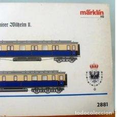 Trenes Escala: MARKLIN REF. 2881- FOTO 017- 2 COCHES- CON LUZ Y EMBALAJE ORIGINAL. Lote 240978235