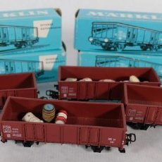Trains Échelle: 4 VAGONES MARKLIN REF.4639-CAJA ORIGINAL. Lote 241777280