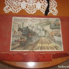 Trenes Escala: CAJA CON RESTOS VIAS Y CATALOGO TREN EXPRESO MARKLIN , VER FOTOS ESTADO. Lote 244015635