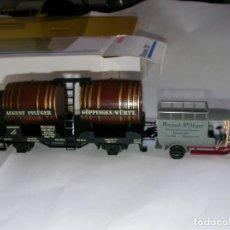Trenes Escala: DOS VAGONES MUSEO MARKLIN. Lote 248009885