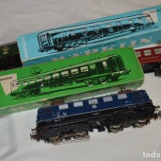 Trenes Escala: LOTE MARKLIN / LOCOMOTORA 3034 Y VAGONES 4047 / 4035 - ESCALA H0 / MADE IN WESTERN GERMANY ¡MIRA!. Lote 249133165