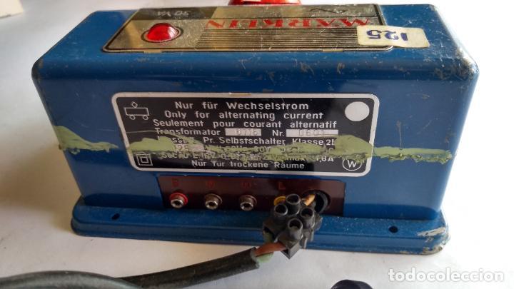 Trenes Escala: MARKLIN H0, TRANSFORMADOR REGULADOR VELOCIDAD. 125V. SIN PROBAR - Foto 5 - 263150910