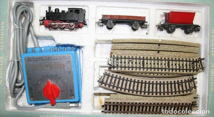 Trenes Escala: Märklin h0 2933 start caja , tren de carga con vagones ytransformador vías ferrocarril - Foto 2 - 250266400