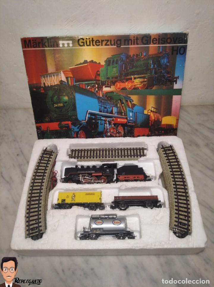 Trenes Escala: SET MARKLIN H0 REF: 3203 CON LOCOMOTORA DE VAPOR 24058 - MÁQUINA TREN - TRENES ESCALA - WEST GERMANY - Foto 2 - 278972258