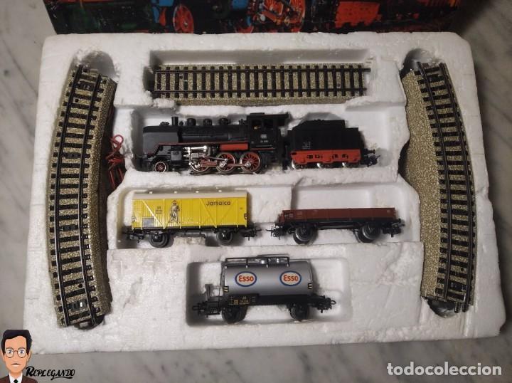 Trenes Escala: SET MARKLIN H0 REF: 3203 CON LOCOMOTORA DE VAPOR 24058 - MÁQUINA TREN - TRENES ESCALA - WEST GERMANY - Foto 3 - 278972258