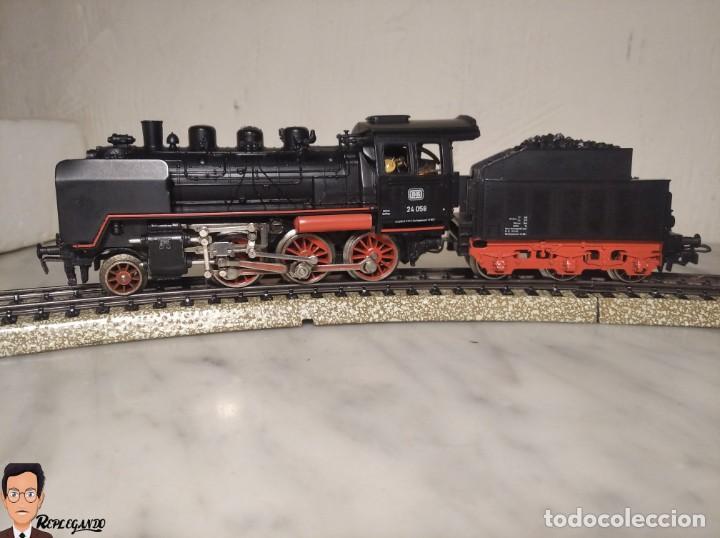 SET MARKLIN H0 REF: 3203 CON LOCOMOTORA DE VAPOR 24058 - MÁQUINA TREN - TRENES ESCALA - WEST GERMANY (Juguetes - Trenes a Escala - Marklin H0)