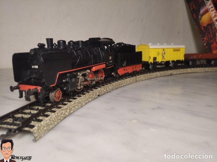 Trenes Escala: SET MARKLIN H0 REF: 3203 CON LOCOMOTORA DE VAPOR 24058 - MÁQUINA TREN - TRENES ESCALA - WEST GERMANY - Foto 5 - 278972258