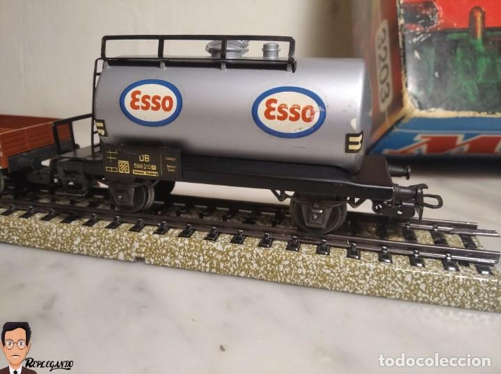 Trenes Escala: SET MARKLIN H0 REF: 3203 CON LOCOMOTORA DE VAPOR 24058 - MÁQUINA TREN - TRENES ESCALA - WEST GERMANY - Foto 9 - 278972258