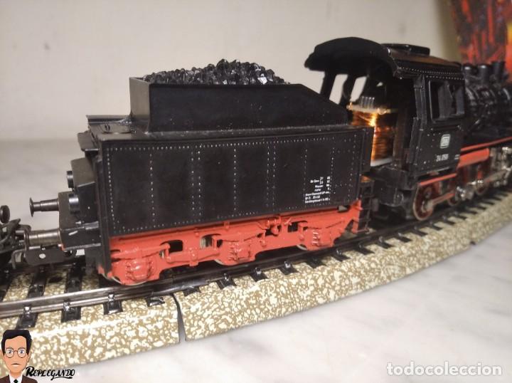 Trenes Escala: SET MARKLIN H0 REF: 3203 CON LOCOMOTORA DE VAPOR 24058 - MÁQUINA TREN - TRENES ESCALA - WEST GERMANY - Foto 14 - 278972258