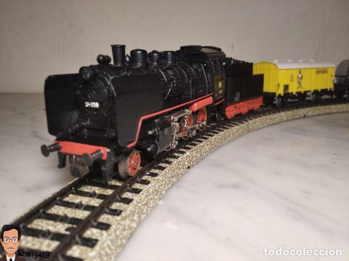 Trenes Escala: SET MARKLIN H0 REF: 3203 CON LOCOMOTORA DE VAPOR 24058 - MÁQUINA TREN - TRENES ESCALA - WEST GERMANY - Foto 31 - 278972258