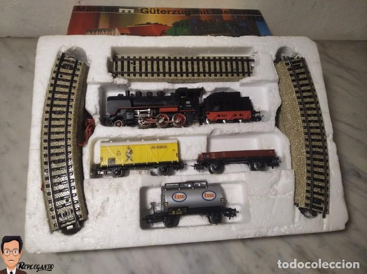 Trenes Escala: SET MARKLIN H0 REF: 3203 CON LOCOMOTORA DE VAPOR 24058 - MÁQUINA TREN - TRENES ESCALA - WEST GERMANY - Foto 41 - 278972258