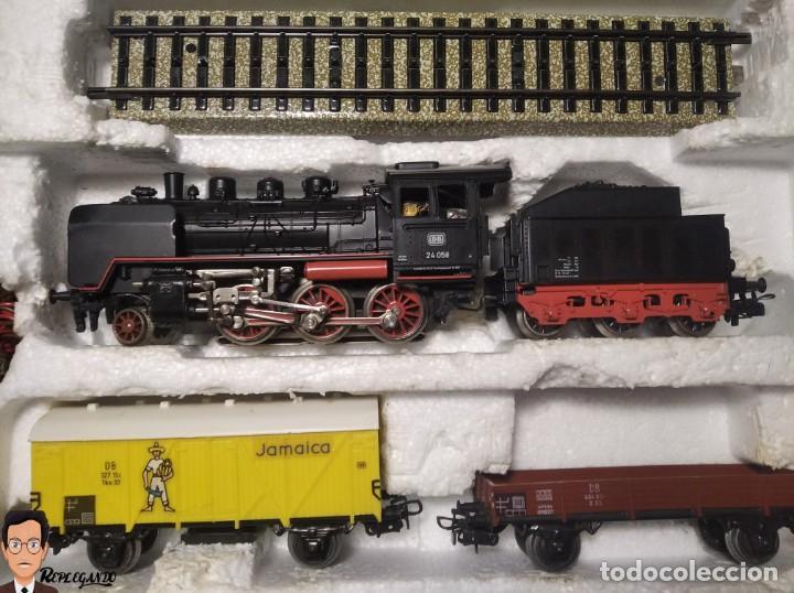 Trenes Escala: SET MARKLIN H0 REF: 3203 CON LOCOMOTORA DE VAPOR 24058 - MÁQUINA TREN - TRENES ESCALA - WEST GERMANY - Foto 42 - 278972258