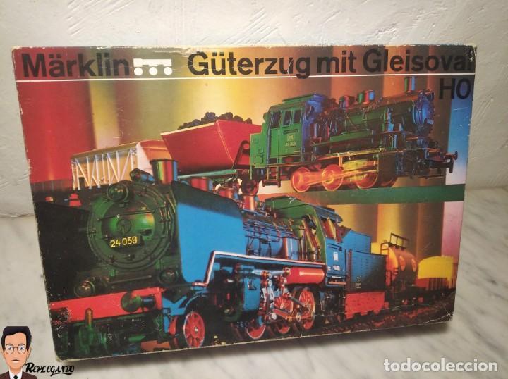 Trenes Escala: SET MARKLIN H0 REF: 3203 CON LOCOMOTORA DE VAPOR 24058 - MÁQUINA TREN - TRENES ESCALA - WEST GERMANY - Foto 44 - 278972258