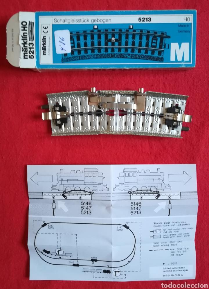 Trenes Escala: MÄRKLIN M - 5213 HO - TRAMO DE VÍA DE CONTACTO - NUEVA, SIN ESTRENAR - PJRB - Foto 2 - 253559520