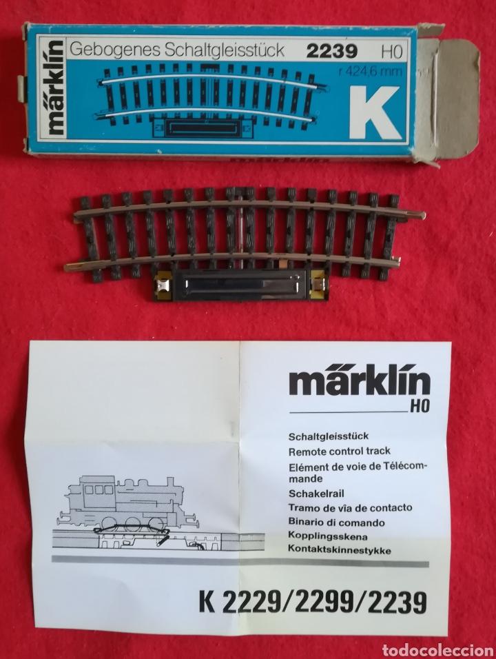 MÄRKLIN K - 2239 HO - TRAMO DE VÍA DE CONTACTO - NUEVA, SIN ESTRENAR - PJRB (Juguetes - Trenes a Escala - Marklin H0)
