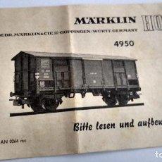 Trenes Escala: MARKLIN H0, INSTRUCCIONES. Lote 254265480