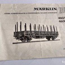 Trenes Escala: MARKLIN H0, INSTRUCCIONES. Lote 254265500