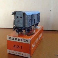 Trenes Escala: MARKLIN - H0 - COCHE DE CARGA CERRADO ART.312 /1 O ART.4605. EXCELENTE ESTADO CON CAJA ORIGINAL. Lote 255016505