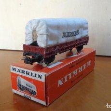 Trenes Escala: MARKLIN - H0 - COCHE PLANTA BAJA CON TOLDO ART.4609 EXCELENTE ESTADO. Lote 255018135