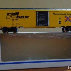 Trenes Escala: MARKLIN - H0 - ART 4773 USA BOX WAGON - BASE DE ALMACEN. PERFECTAS CONDICIONES.. Lote 255018715