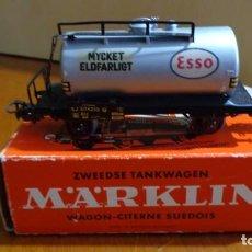 "Trenes Escala: MARKLIN H0 - VAGON TANQUE ""SERIE LIMITADA"" ART.4524 'NEGRO' CON CAJA ORIGINAL. Lote 255026675"