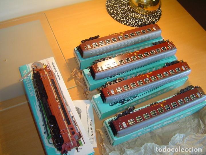 Trenes Escala: Marklin. Tren con locomotora 3068 y vagones 4x4045 - Foto 4 - 255986410