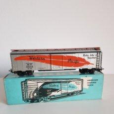 Trenes Escala: MARKLIN VAGON AMERICANO MERCANCIAS REF 4571 EN CAJA ORIGINAL Y GRAN ESTADO. Lote 260413320