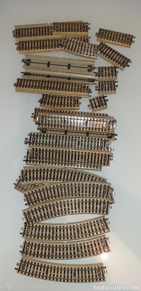 Trenes Escala: 30 piezas Vias de tren Marklin y electrotren ref 5100 5106 5202 - Foto 2 - 262178570