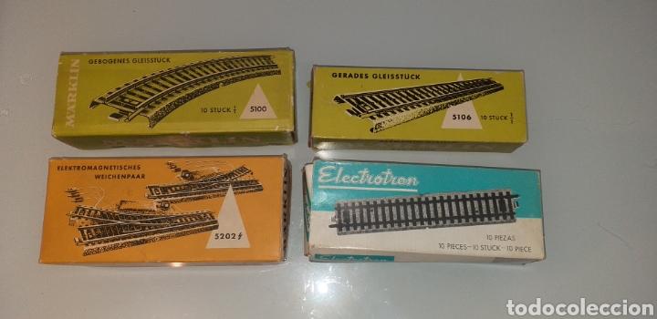 30 PIEZAS VIAS DE TREN MARKLIN Y ELECTROTREN REF 5100 5106 5202 (Juguetes - Trenes a Escala - Marklin H0)