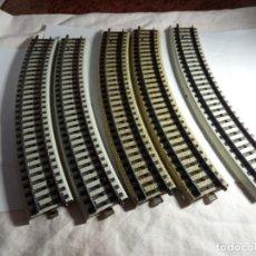 Trenes Escala: LOTE VIAS CURVAS ESCALA HO DE MARKLIN PRIMEX. Lote 262442915