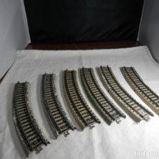 Trenes Escala: LOTE VIAS CURVAS ESCALA HO DE MARKLIN. Lote 265576079